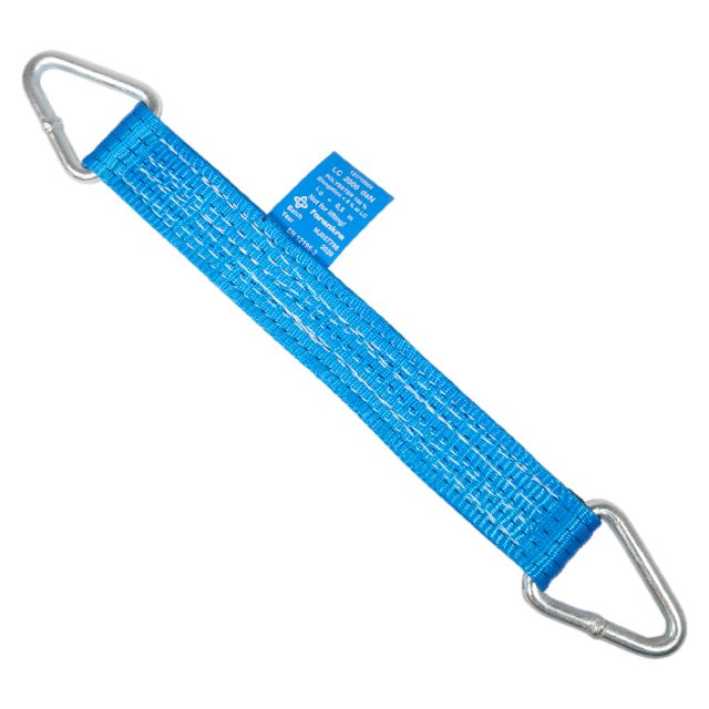 Lashing for brake testing, blue